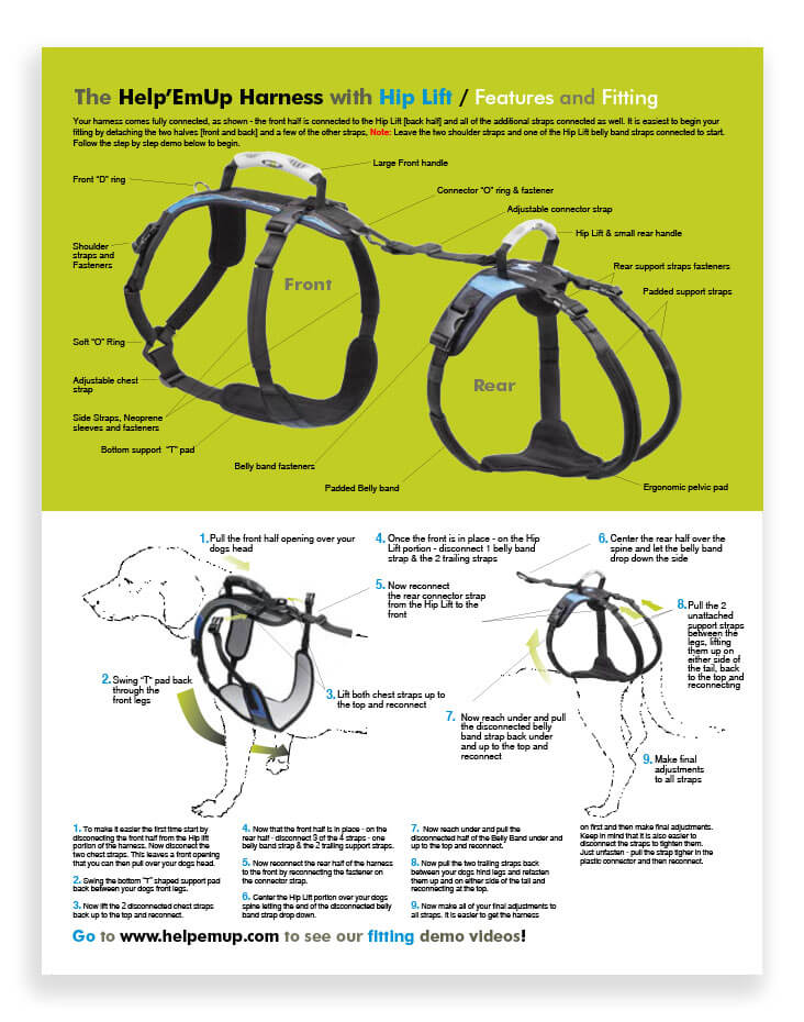 The Help'EmUp Harness with Hip Lift / Features and Fitting